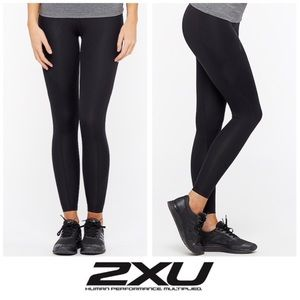 Full Length Black Compression Tight Pants Mid Rise
